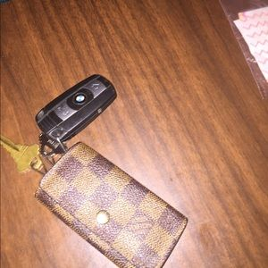 Louis Vuitton key holder! With the initials NS!